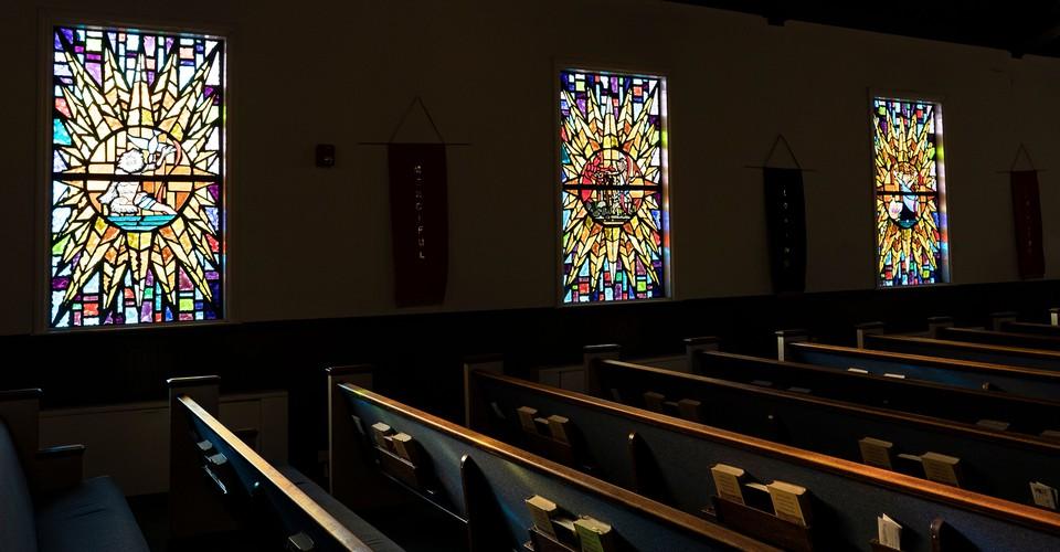 sanctuary with windows